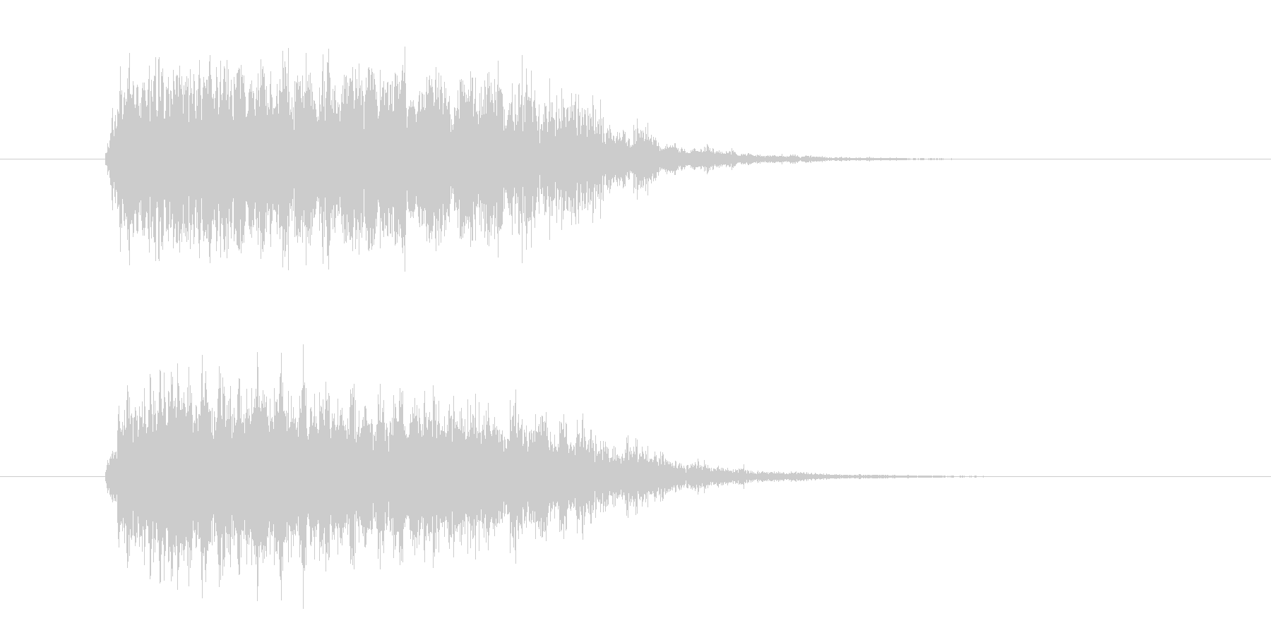 落下系のシンセ効果音の未再生の波形