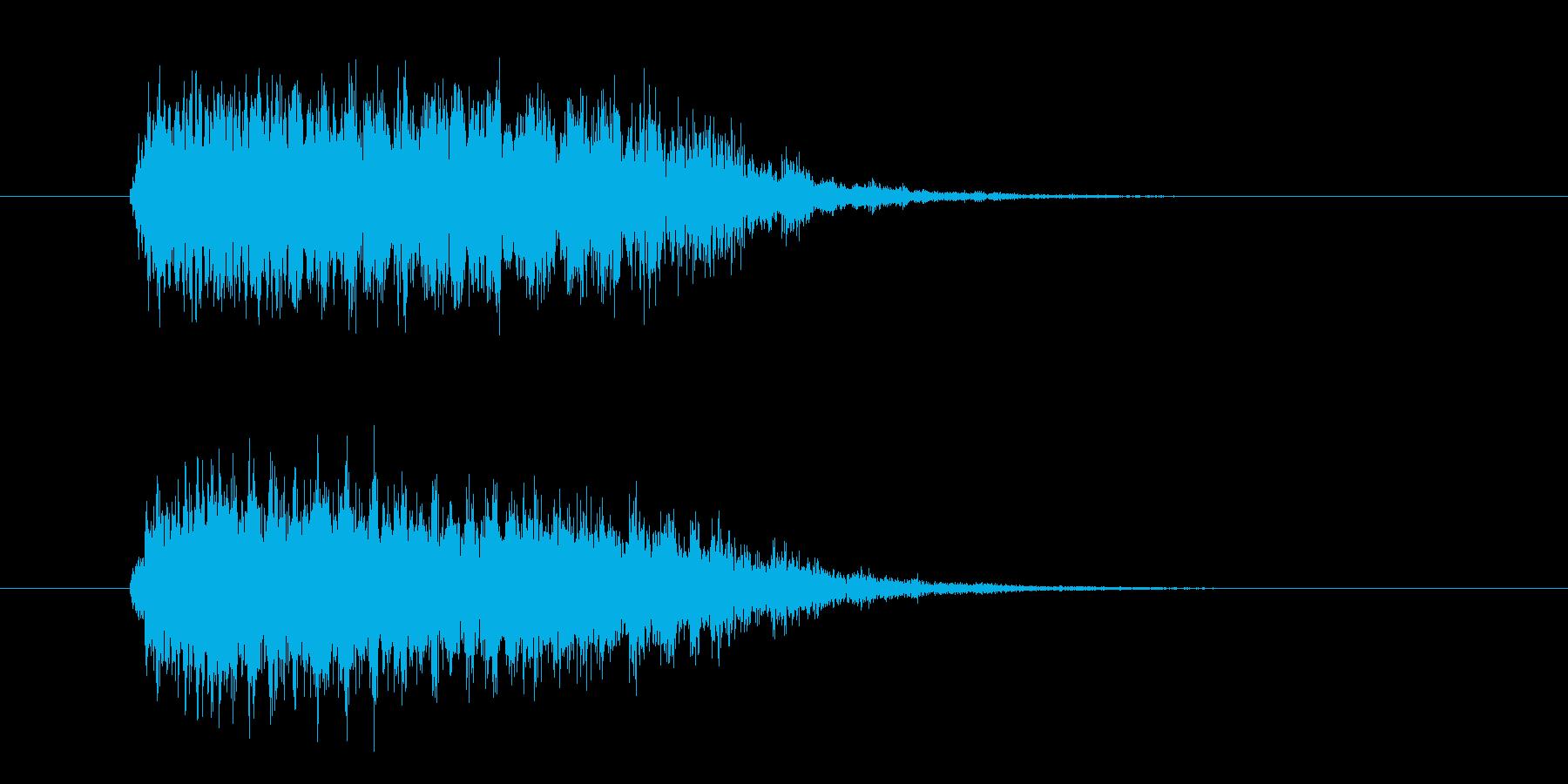 落下系のシンセ効果音の再生済みの波形