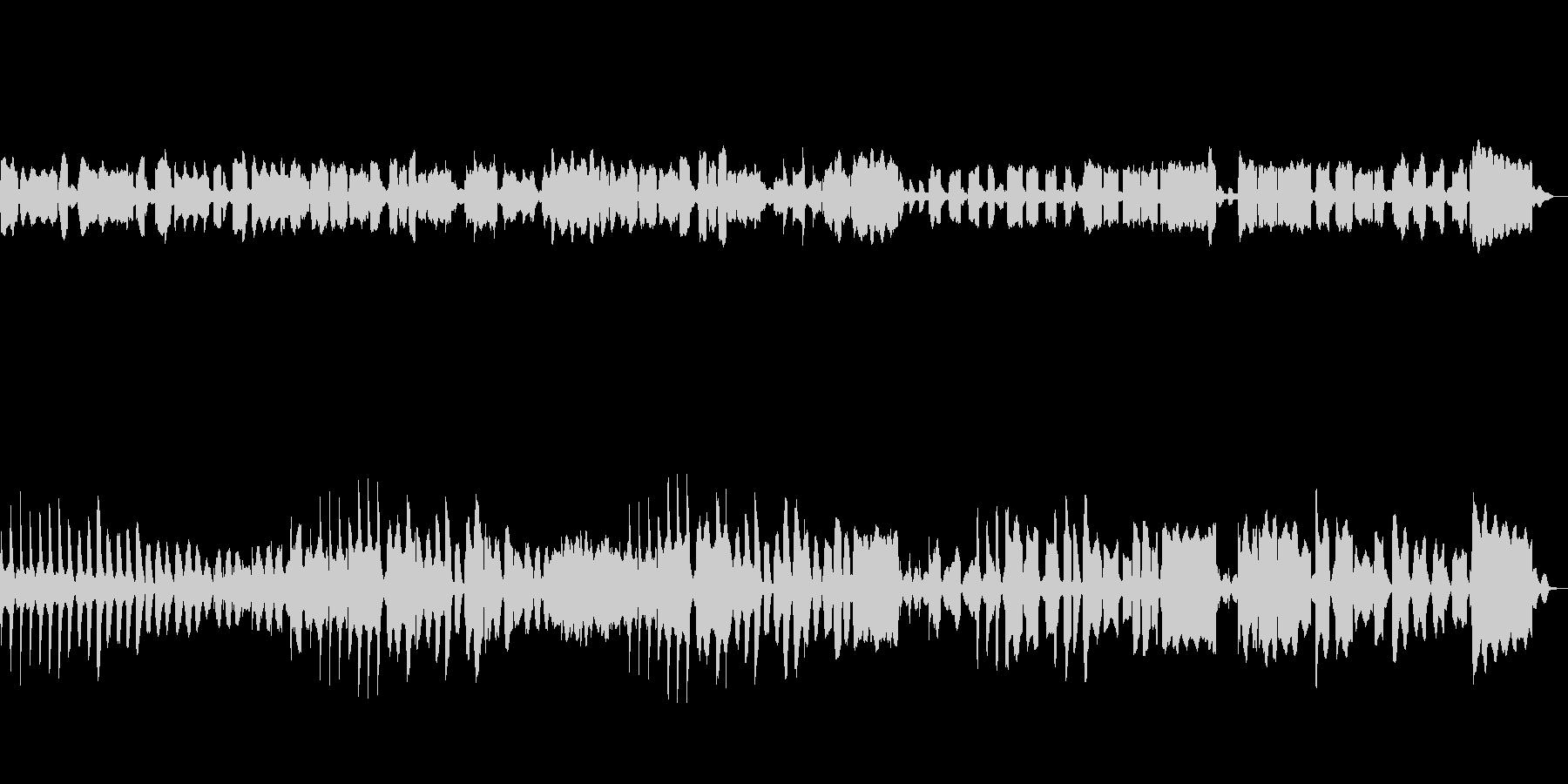 リコーダー、ビブラフォン使用のどかな曲の未再生の波形