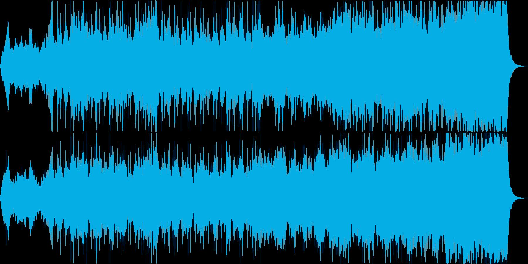 勇敢で力強いオーケストラ風BGMの再生済みの波形