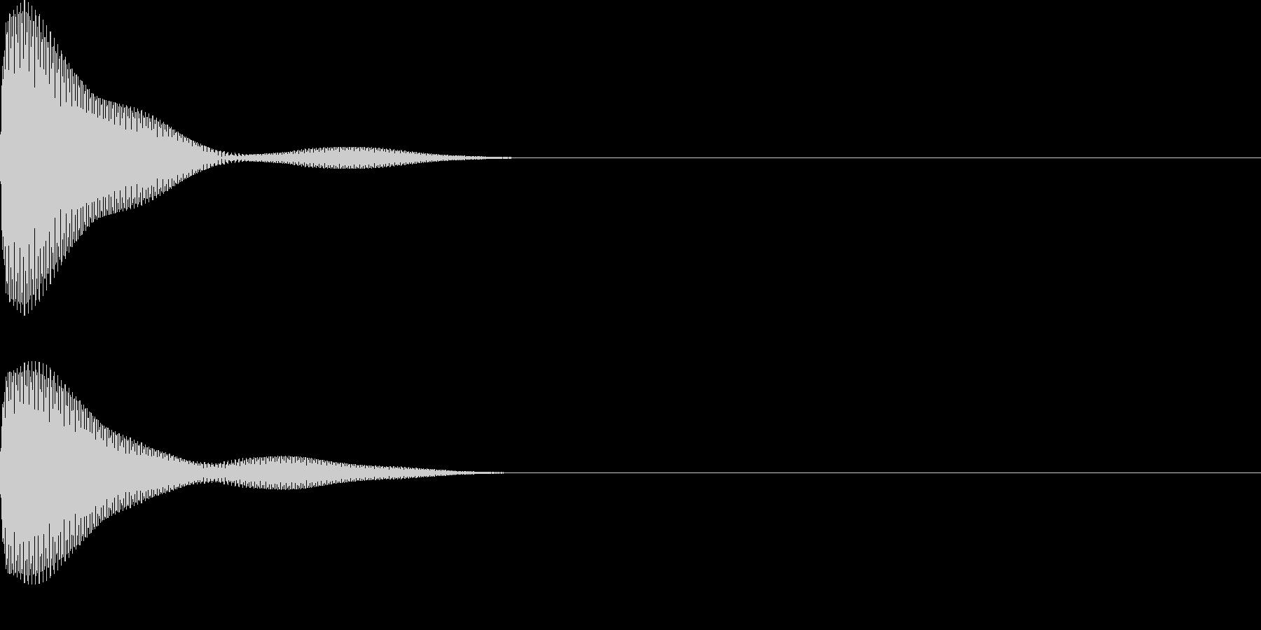 ポーン(ボタンシンプル)の未再生の波形