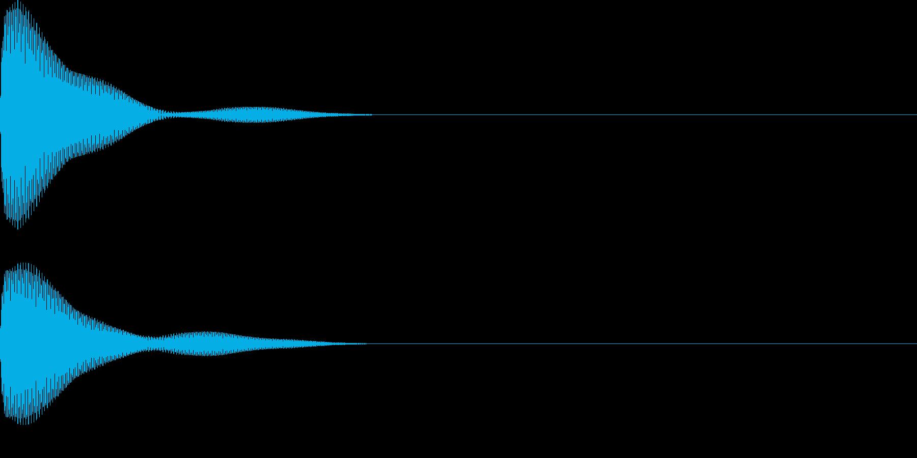 ポーン(ボタンシンプル)の再生済みの波形