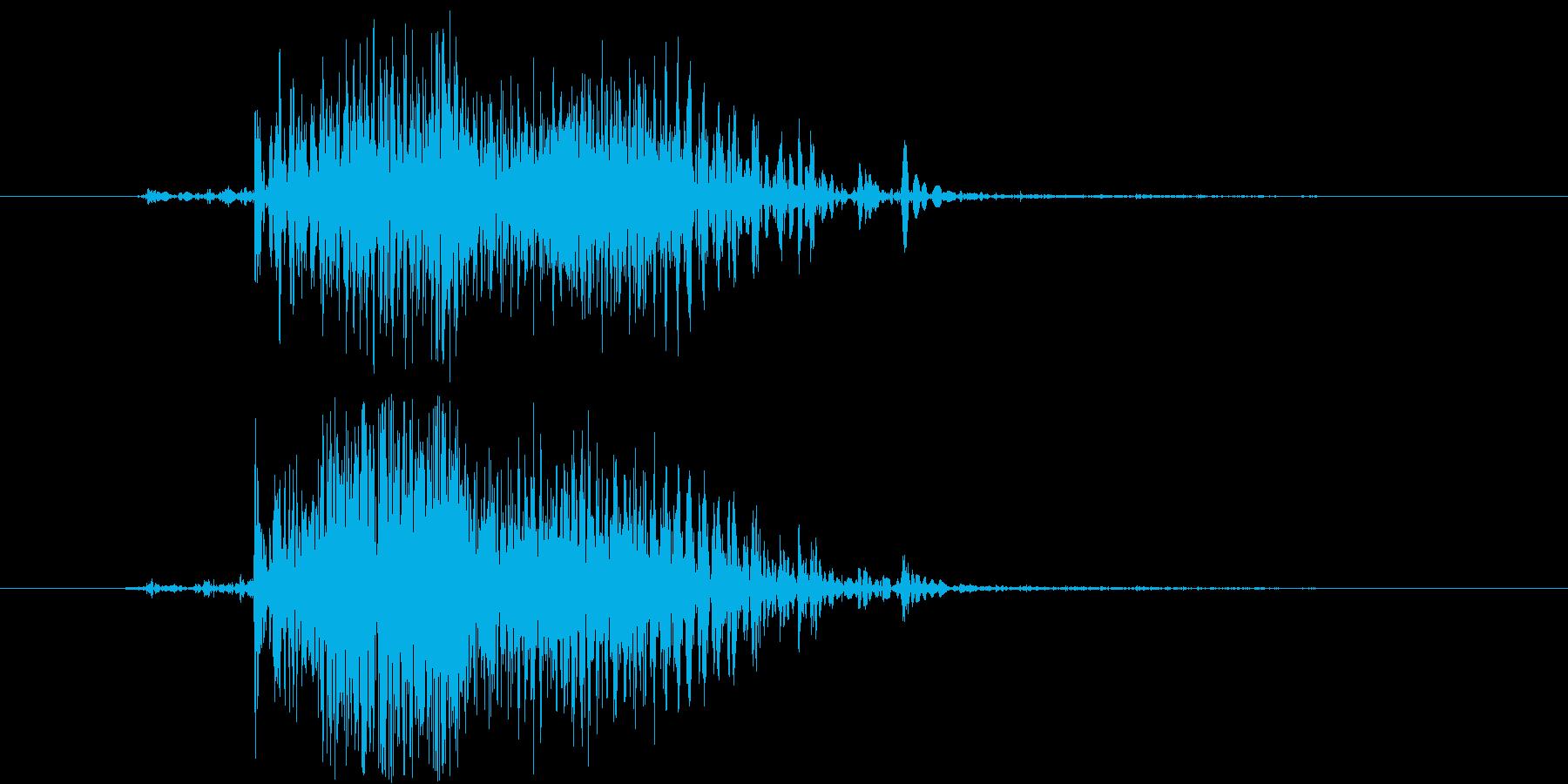 ジイ。(ジッパーの音)の再生済みの波形