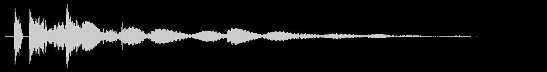 タッチ決定クリック、ボタン音に最適02!の未再生の波形