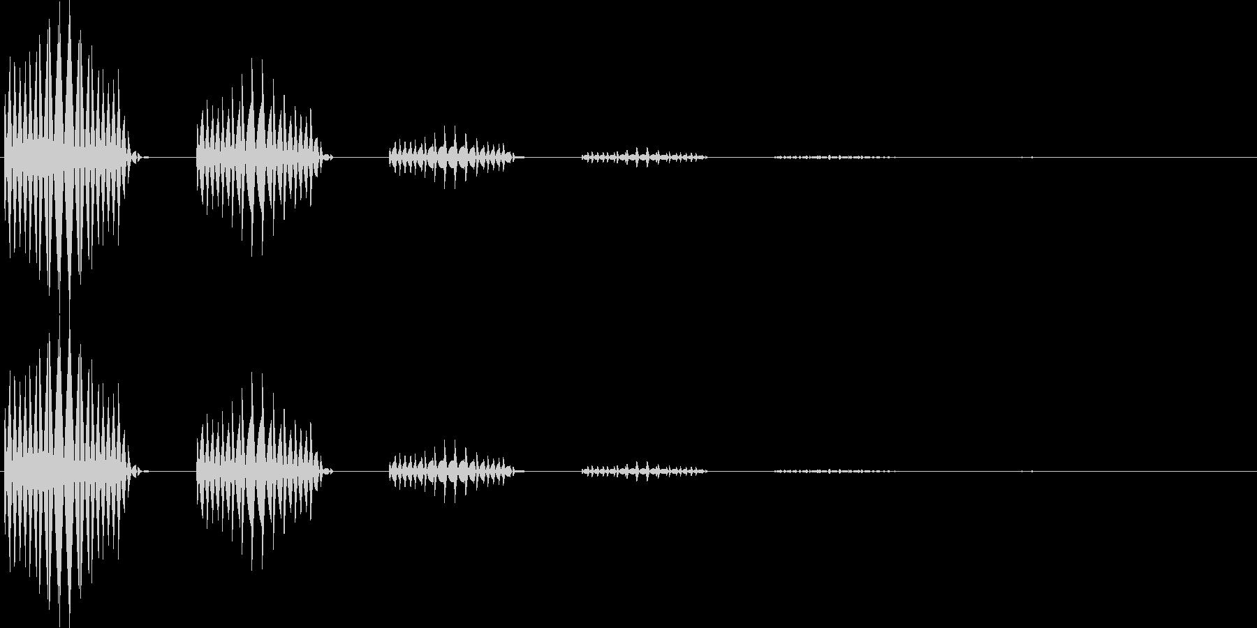 ブブン(キャンセル、モニタ表示、間違い)の未再生の波形