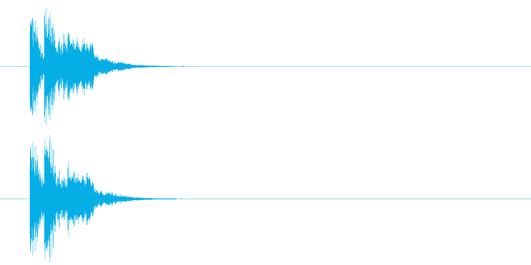 キュー・アタック系ジングルの再生済みの波形