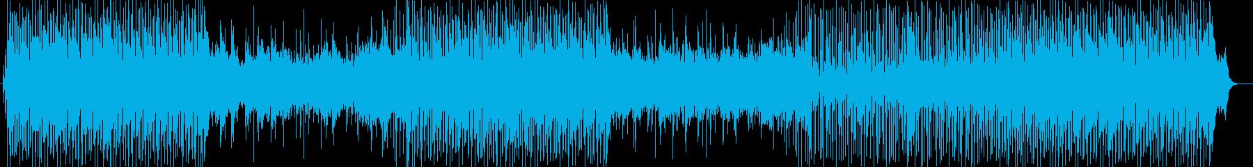 トロピカルなシンセサイザーサウンドの再生済みの波形