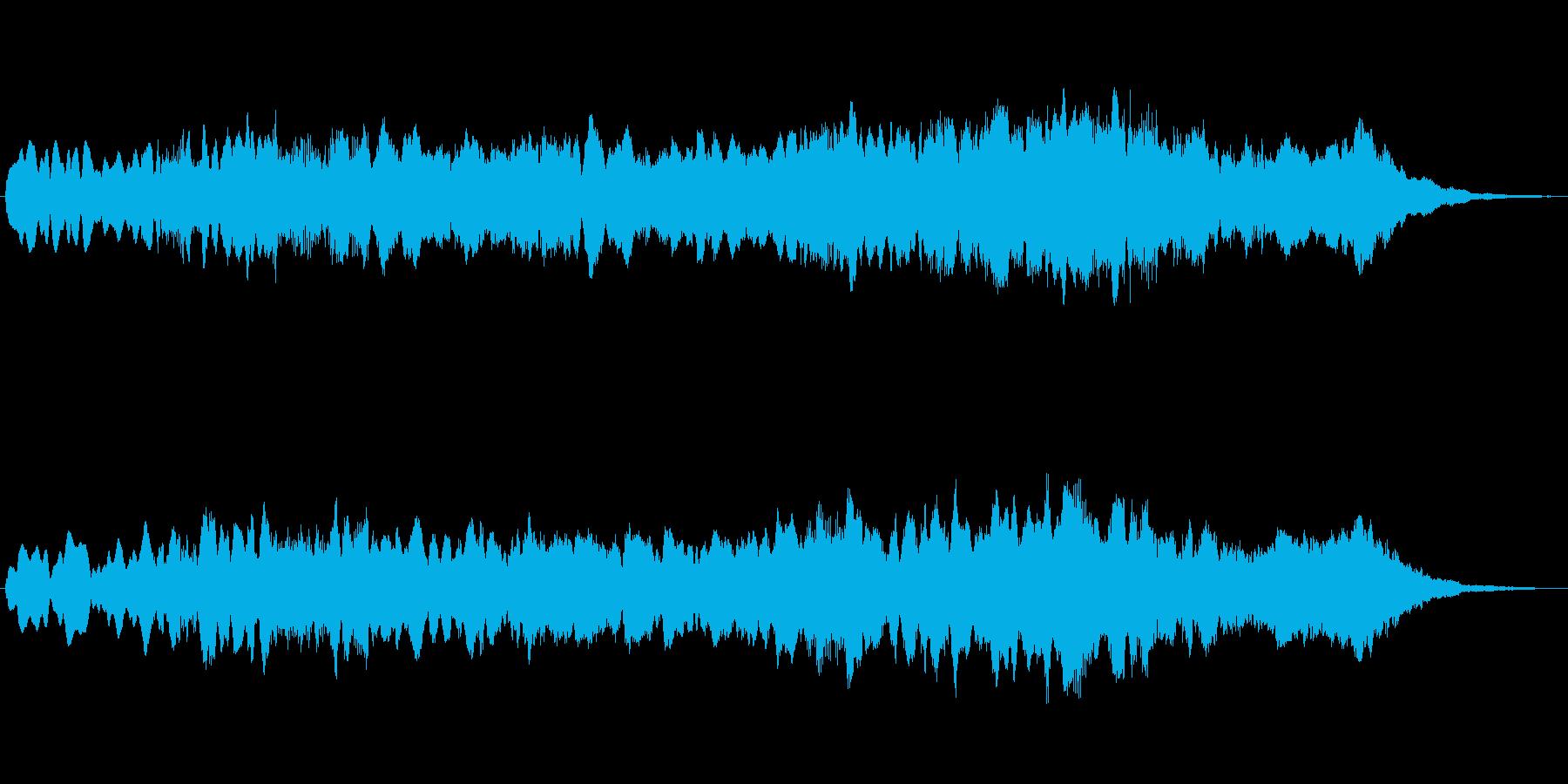 ホルンとストリングスの優しいジングルの再生済みの波形