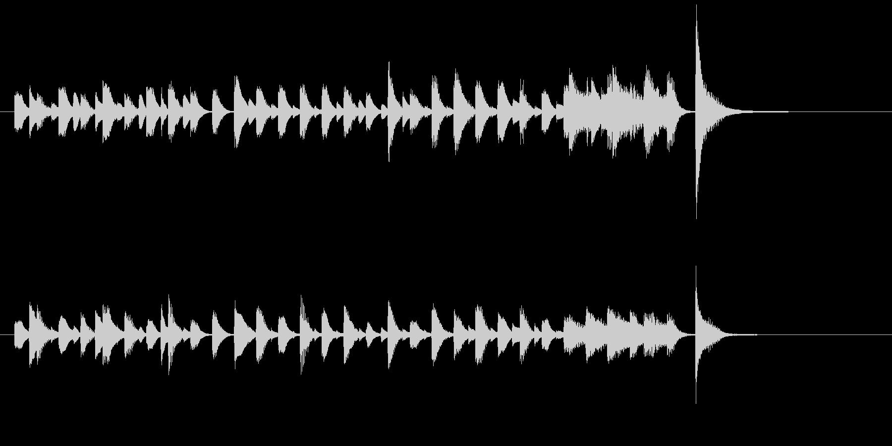 ジャズピアノ、軽快、おどけた、ジングル2の未再生の波形
