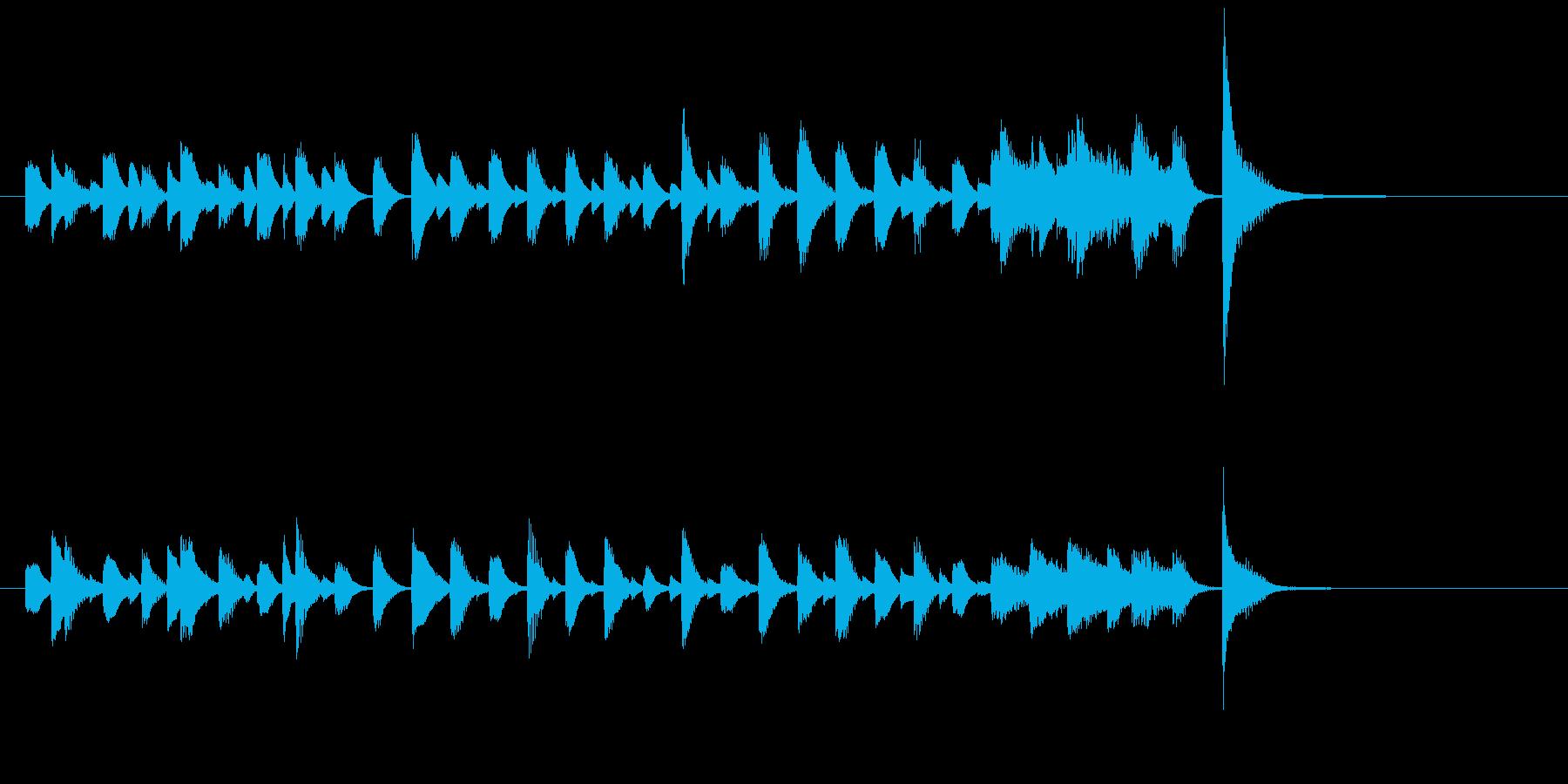ジャズピアノ、軽快、おどけた、ジングル2の再生済みの波形