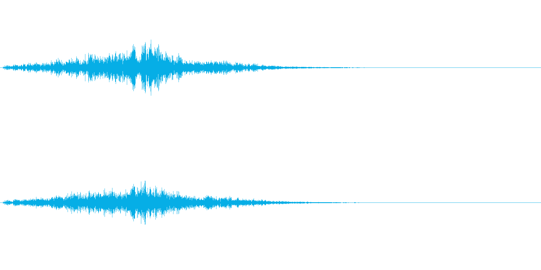 ポタポタッ…(水の魔法、エフェクト)の再生済みの波形