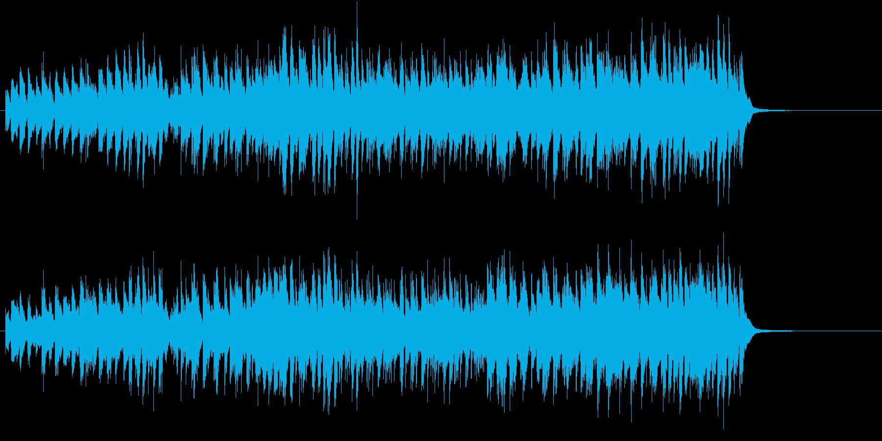 アップテンポ明るいジャズバンドサウンドの再生済みの波形