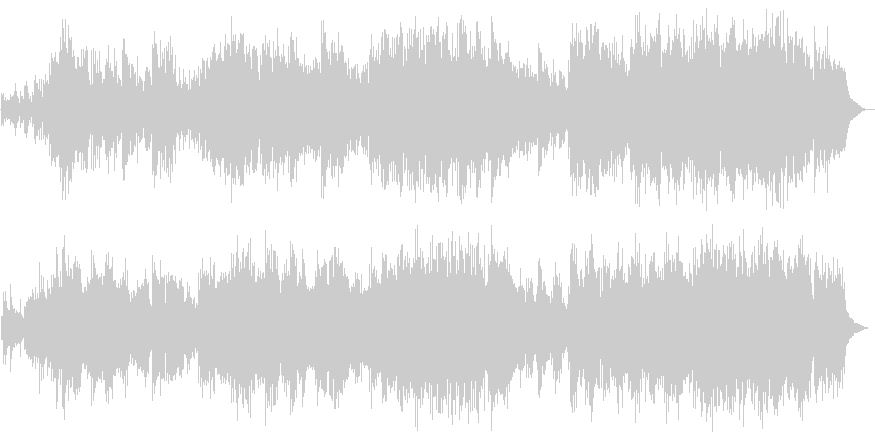 ピアノ 壮大 哀愁 ファンタジー の未再生の波形