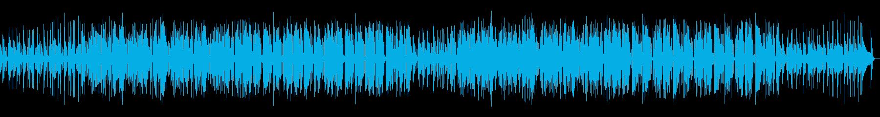 ほのぼのしたボサノヴァティストの曲の再生済みの波形