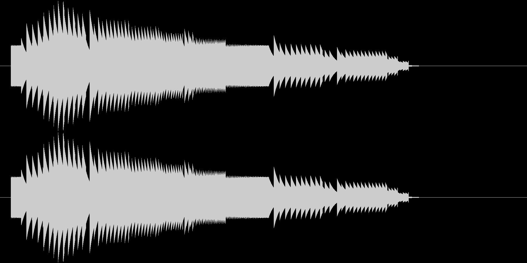 8bit上昇音の未再生の波形