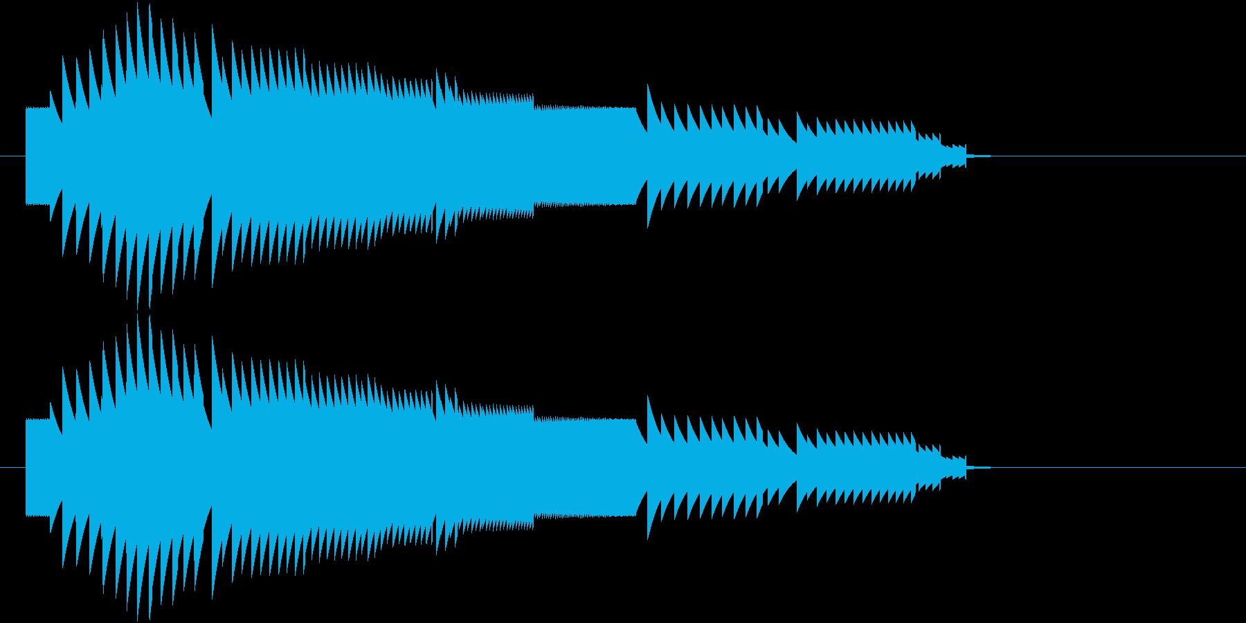8bit上昇音の再生済みの波形