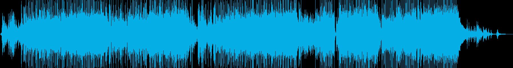 ピアノとフルートの涼しい夏のポップスの再生済みの波形