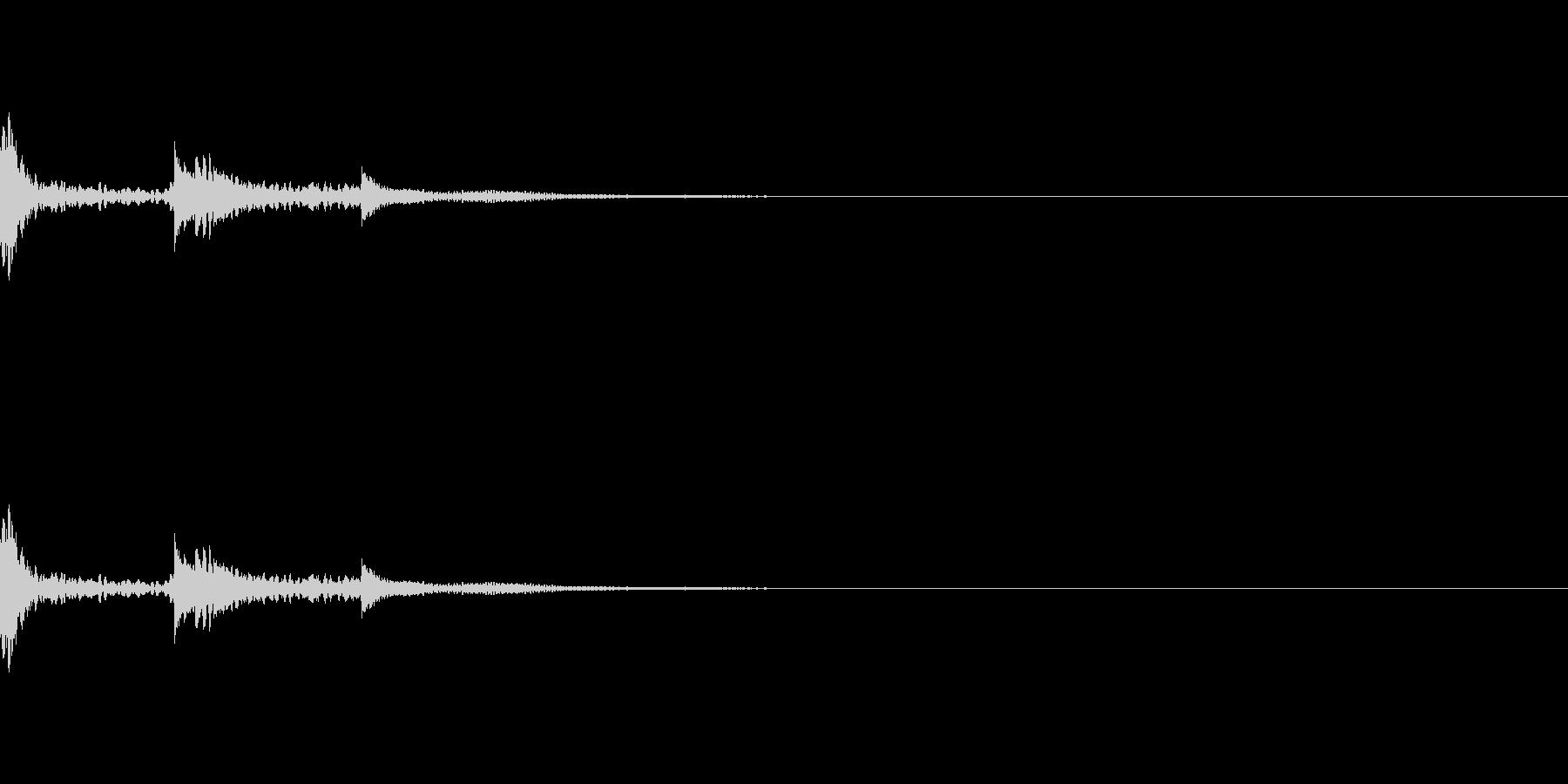 小さいウィンドチャイム。の未再生の波形