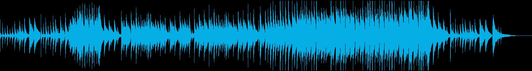 冬をイメージした曲の再生済みの波形