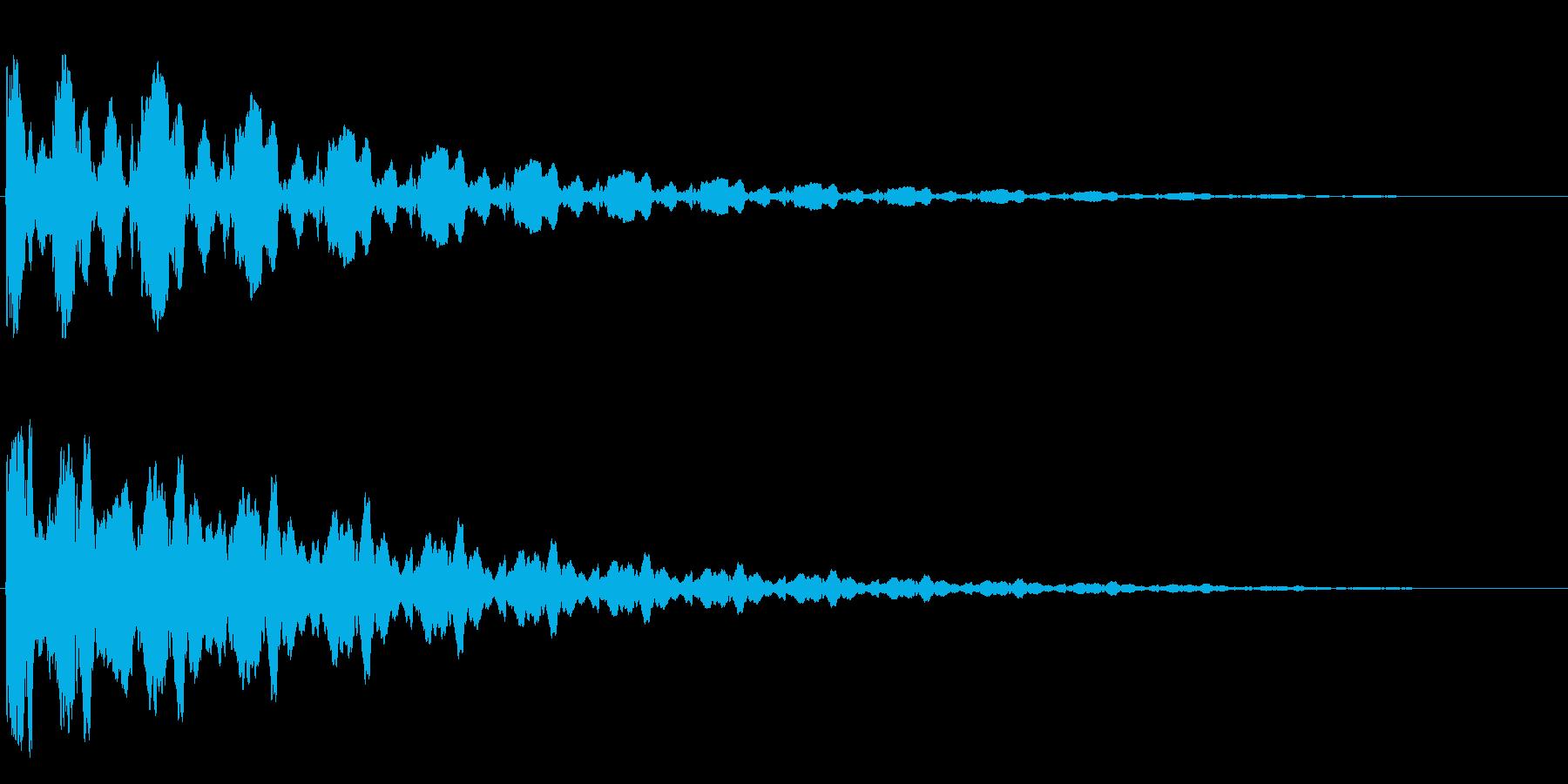 スタート時に聴きたい効果音の再生済みの波形