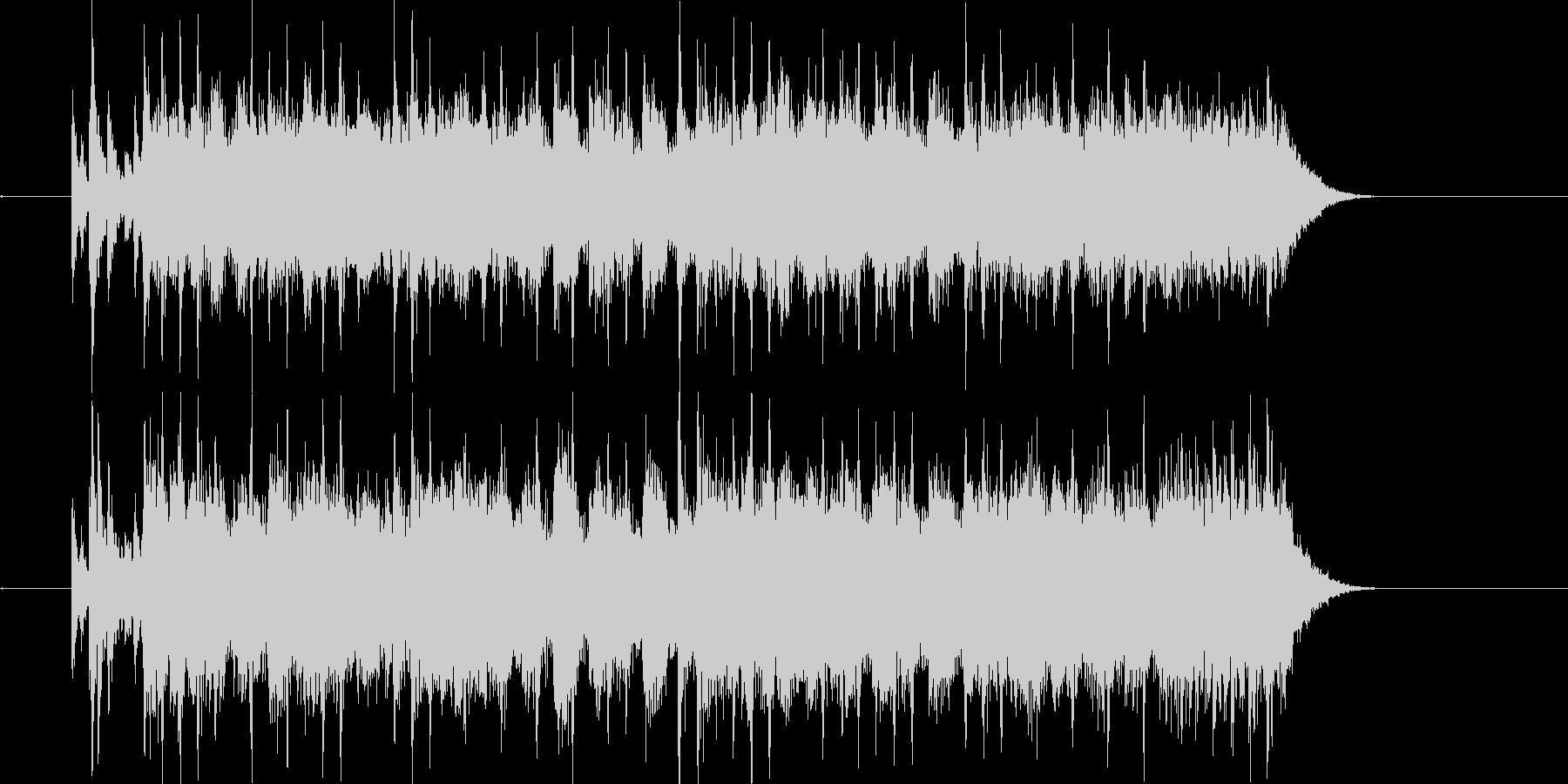 シューティングゲームな曲の未再生の波形