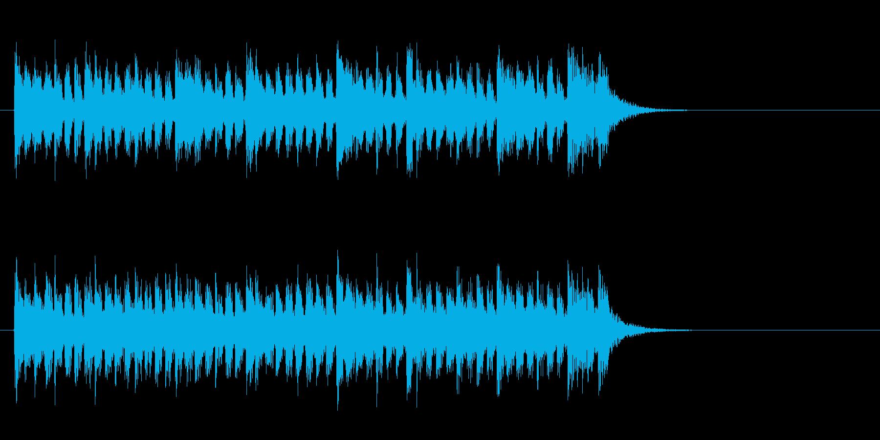 爽やかなミディアムポップ(イントロ)の再生済みの波形