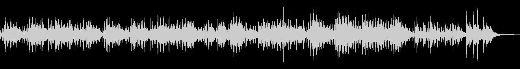 ヒーリング・ソロピアノの哀愁的なメロディの未再生の波形
