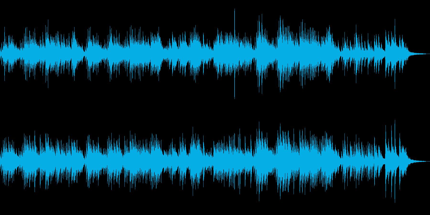 ヒーリング・ソロピアノの哀愁的なメロディの再生済みの波形