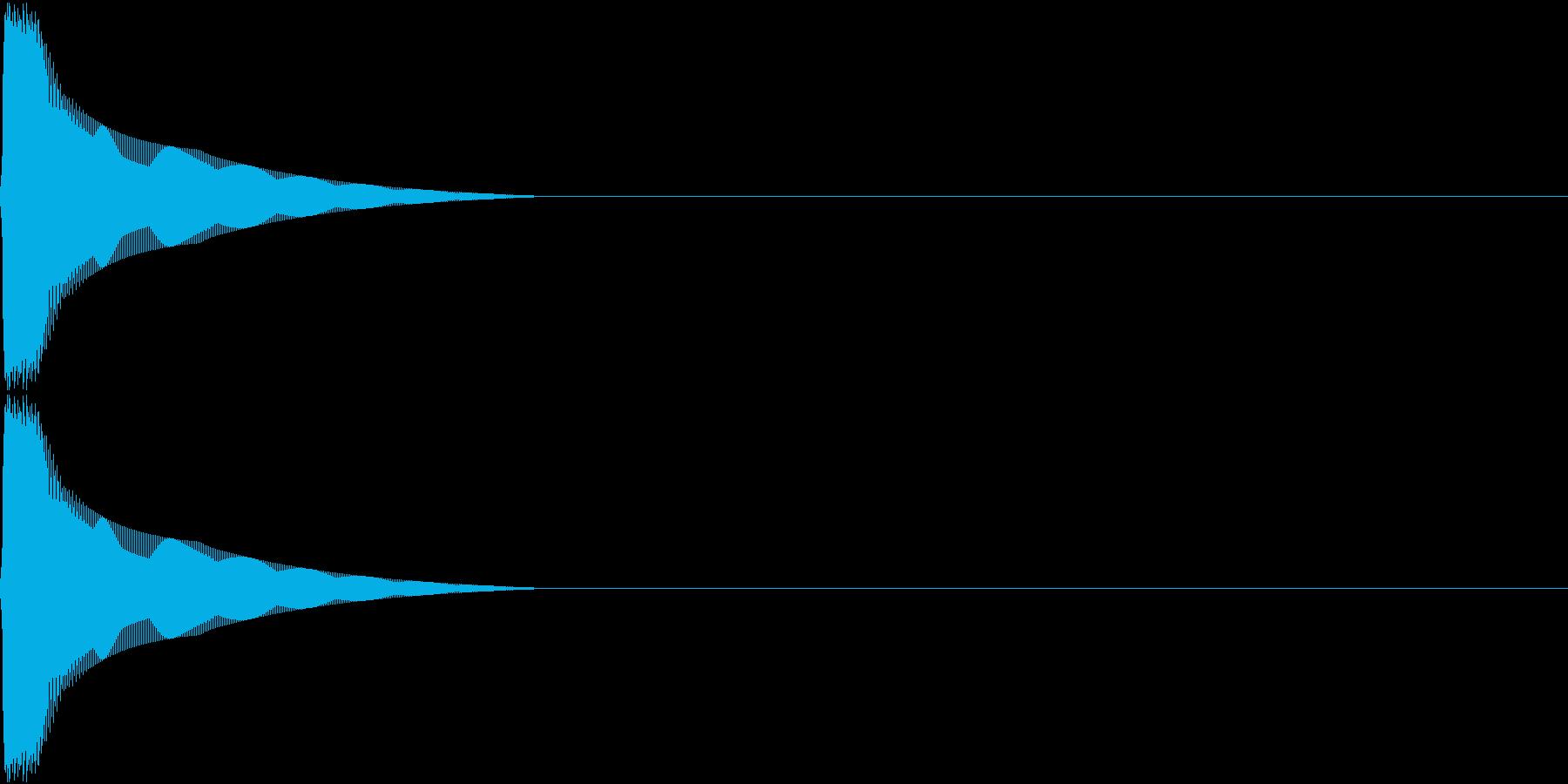 PureTouch アプリ用タッチ音11の再生済みの波形