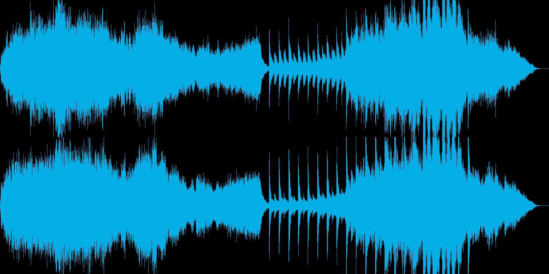 壮大なストリングスオーケストラ曲の再生済みの波形