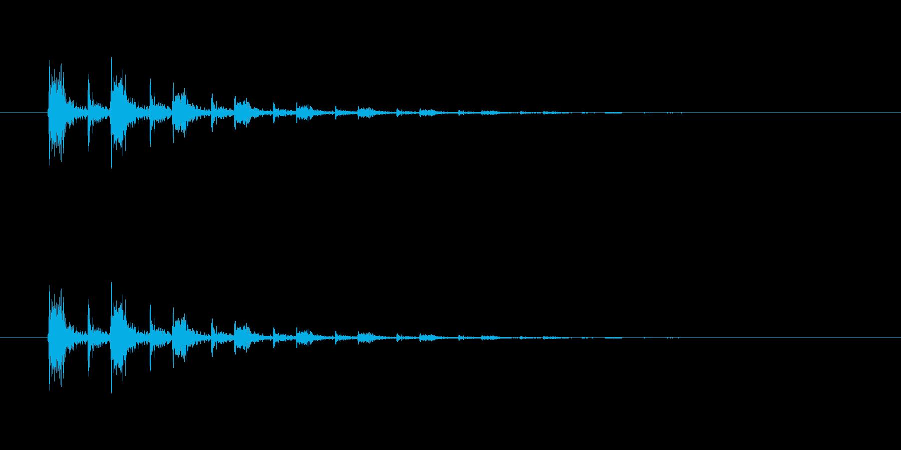 【掴む02-3】の再生済みの波形