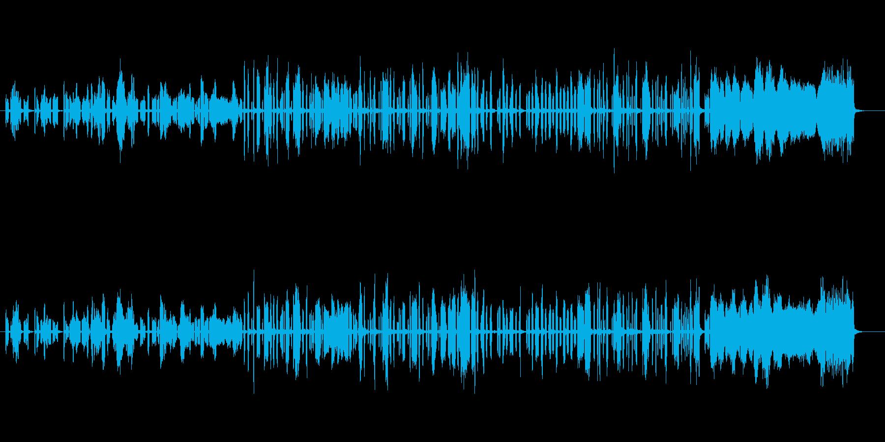 ほのぼのお洒落なオルガンによるボサノバの再生済みの波形