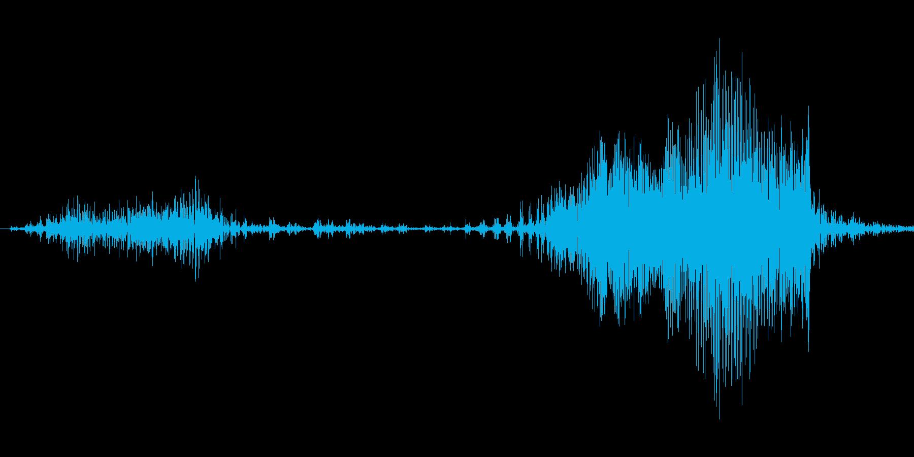 チャックを閉める音1の再生済みの波形