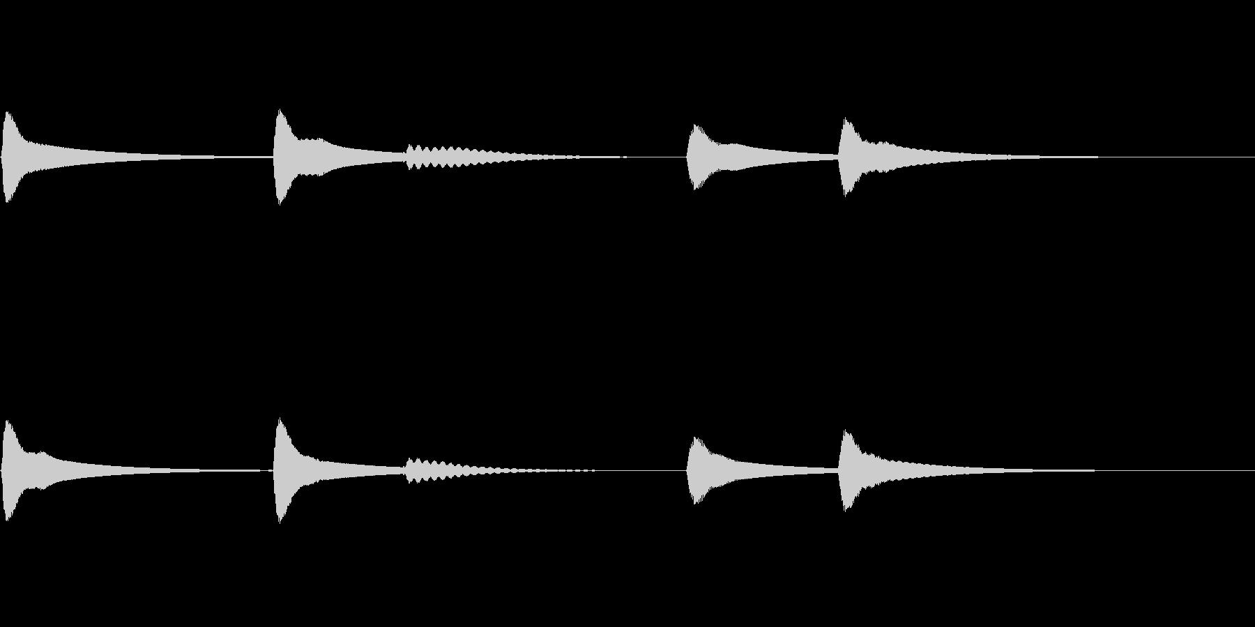 【SE 効果音】ティロティリロリン4の未再生の波形