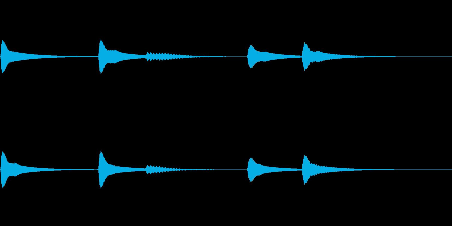 【SE 効果音】ティロティリロリン4の再生済みの波形