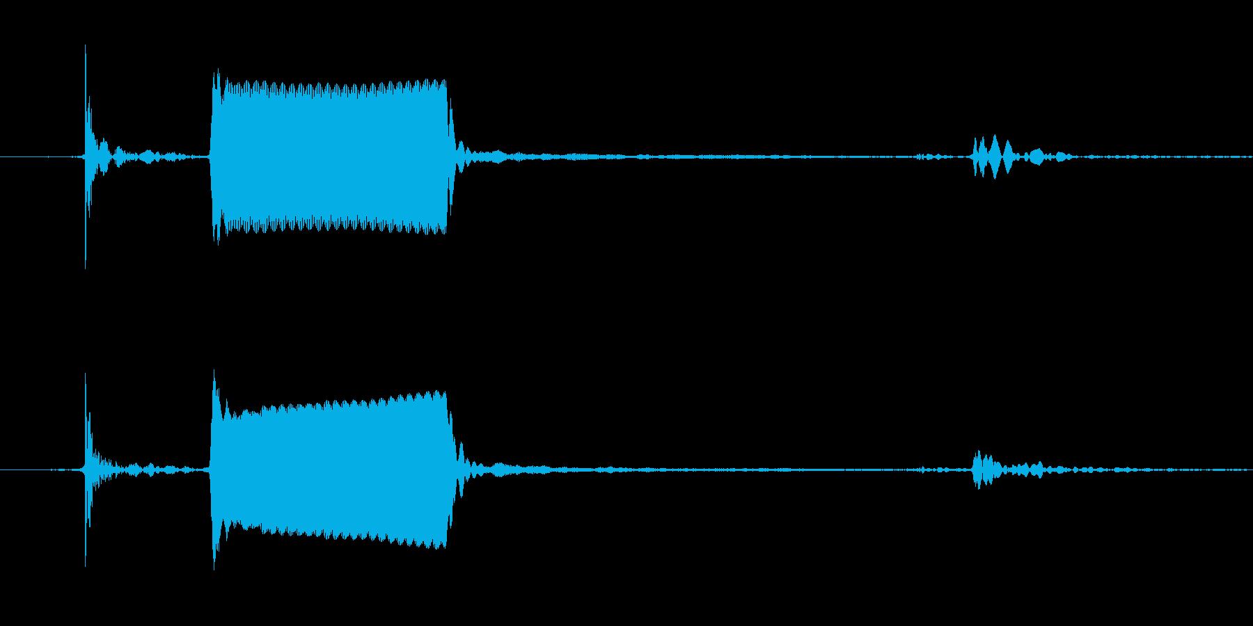 ピッ!スイッチを押したときの音の再生済みの波形
