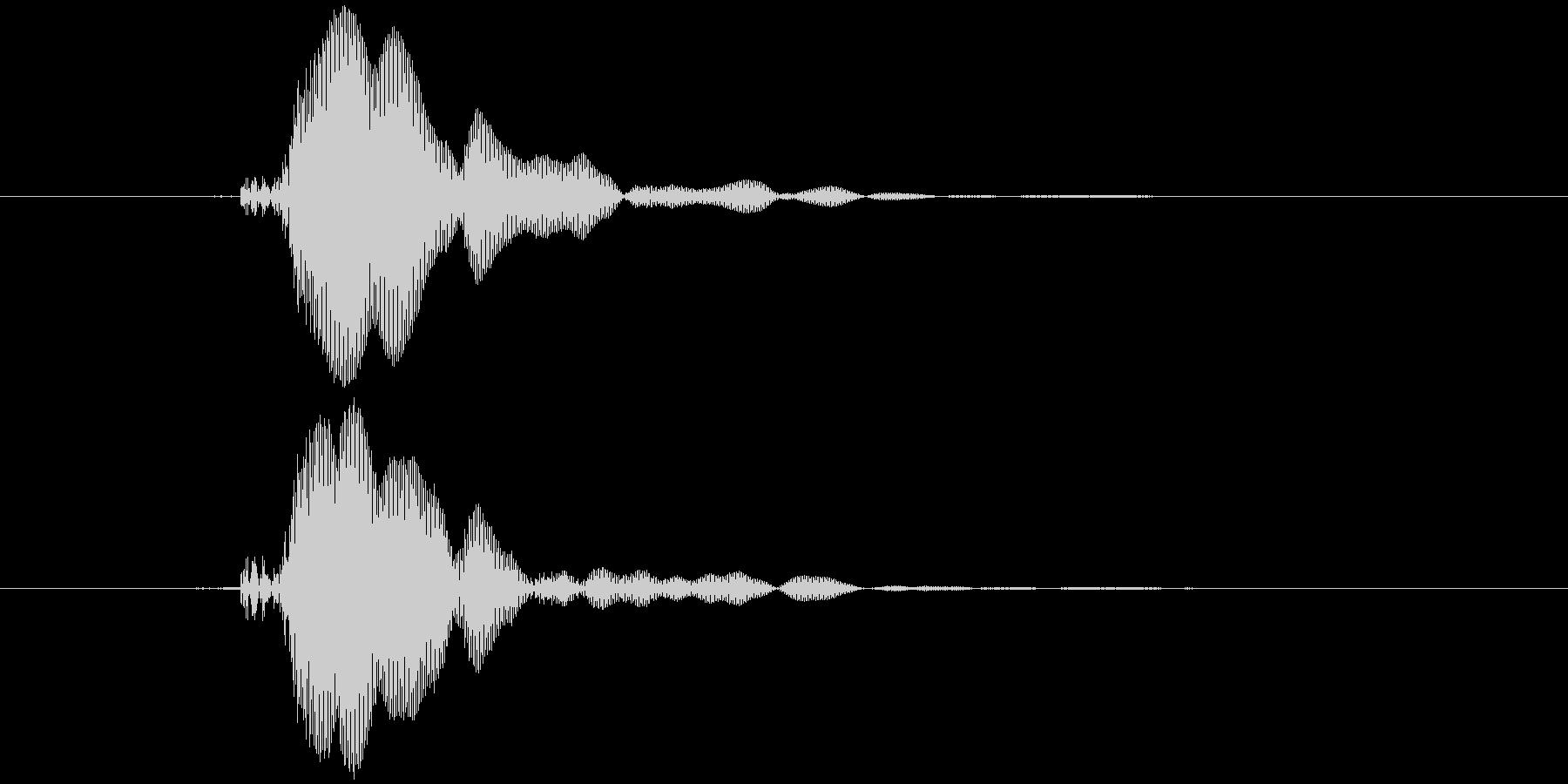 ピコピコハンマー ピッ (高め)の未再生の波形