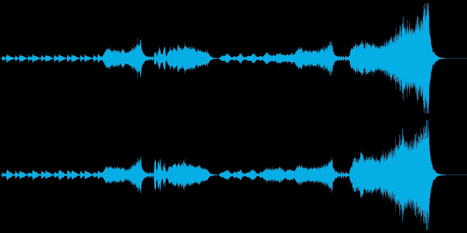 オーケストラのハッピーバースデー オケの再生済みの波形
