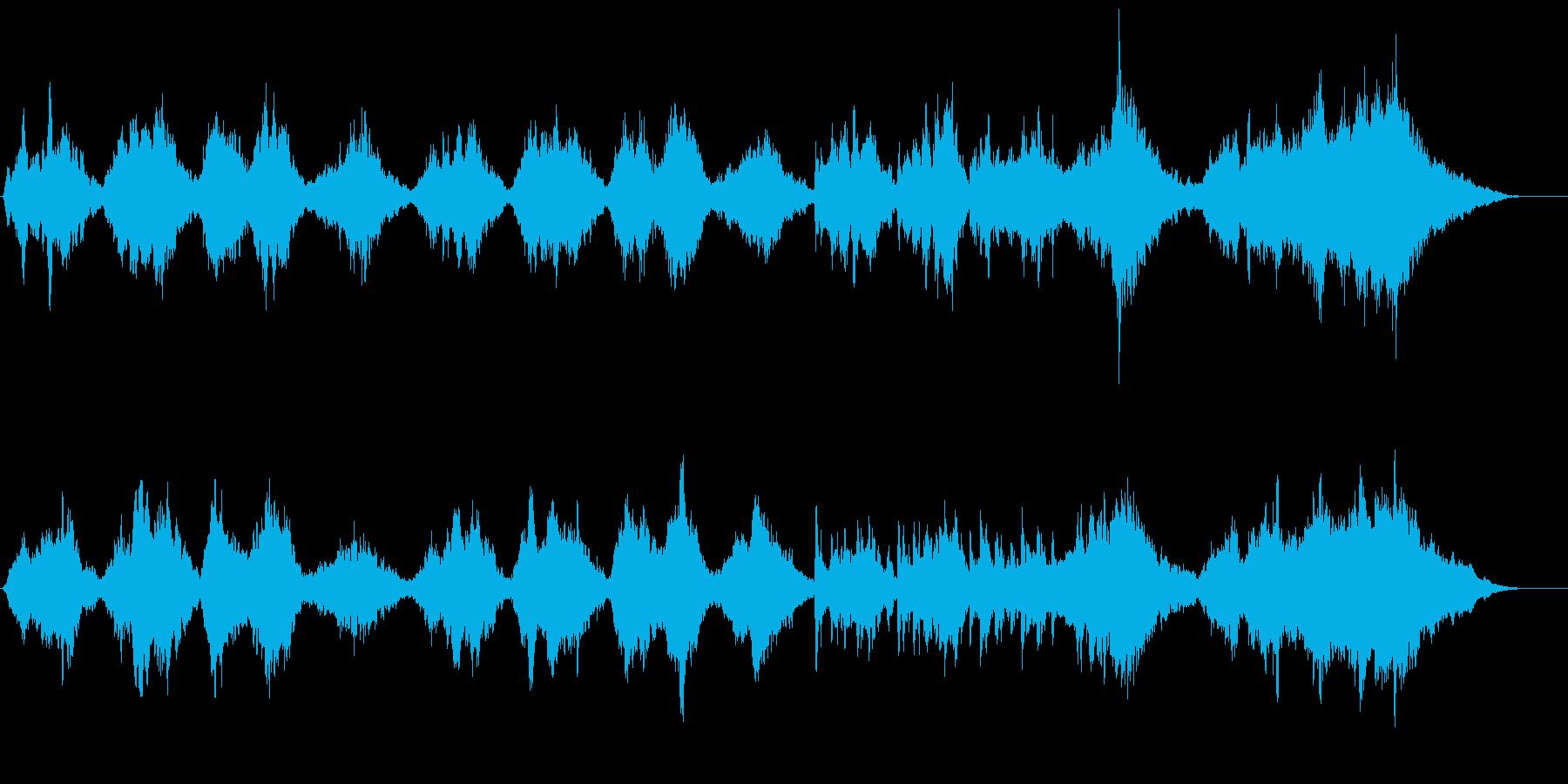 ドラマチックで感動的なストリングス曲の再生済みの波形
