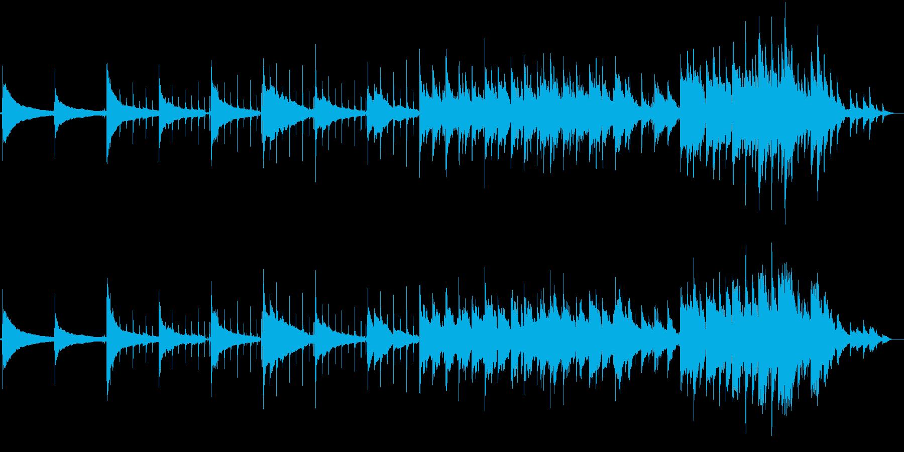 陰鬱とした曲の再生済みの波形
