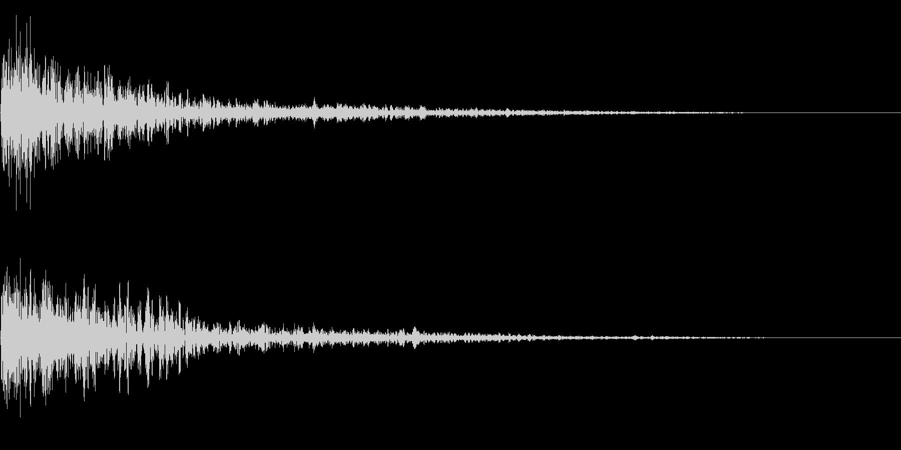 ドーン衝撃音ホラーサスペンスに最適のSEの未再生の波形