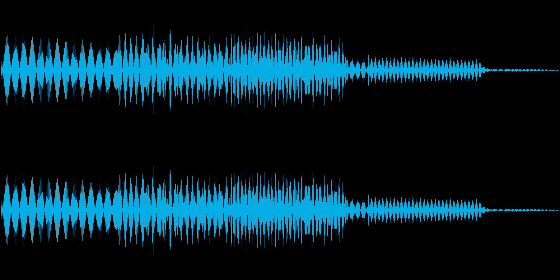 ボタン決定音システム選択タッチ登録C07の再生済みの波形