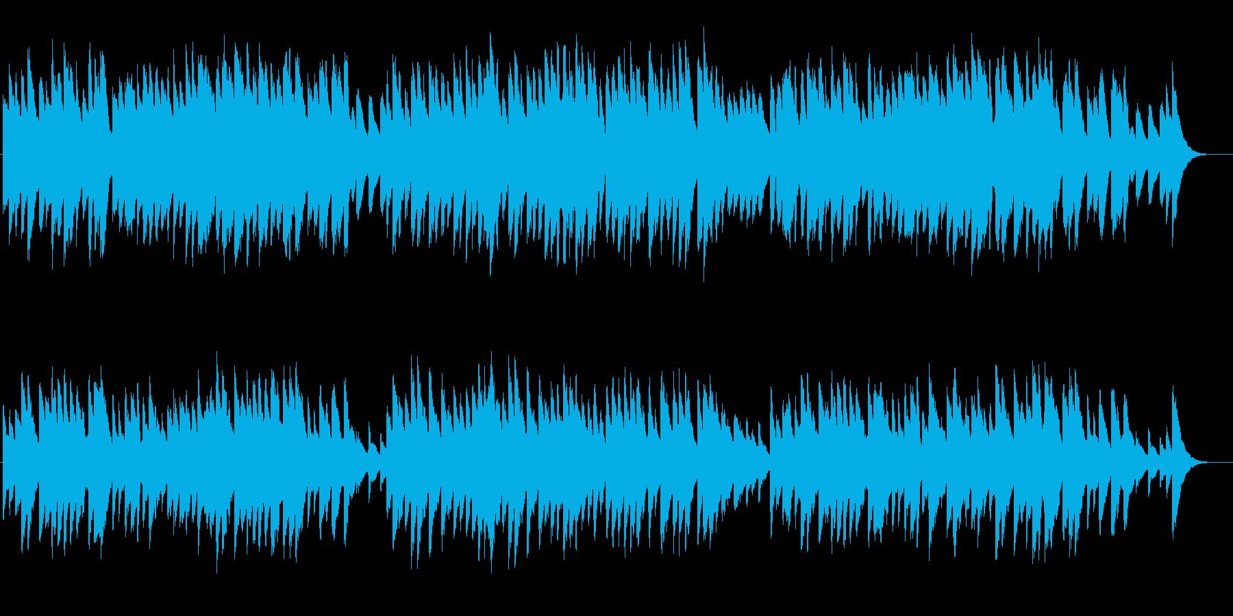 <オルゴール>安らぎ、優しい、郷愁の音色の再生済みの波形