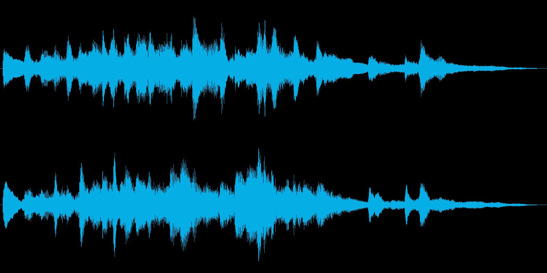 希望に向かって光溢れる、CM向けピアノ曲の再生済みの波形