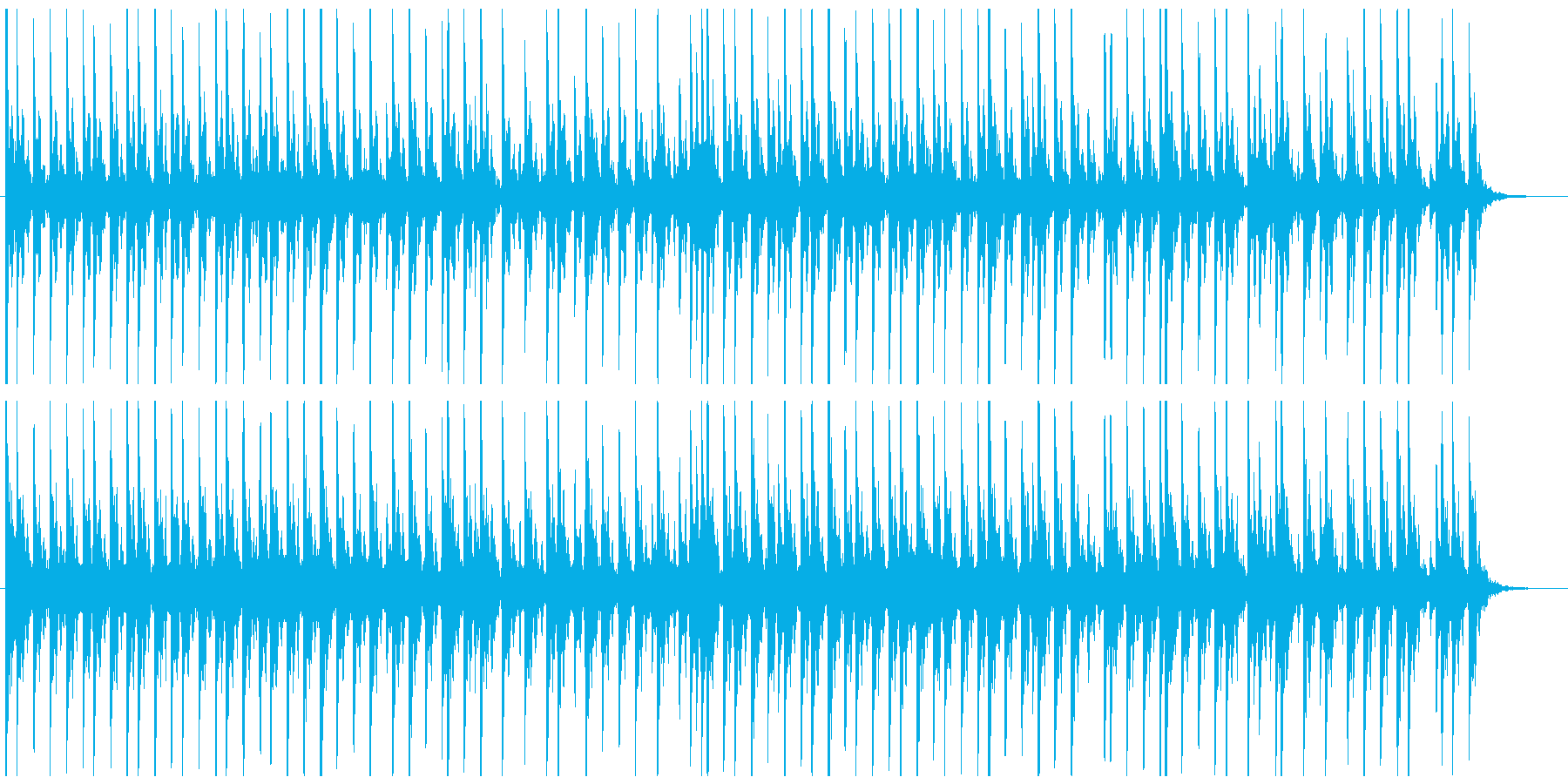 相撲の寄せ太鼓風SE その1の再生済みの波形