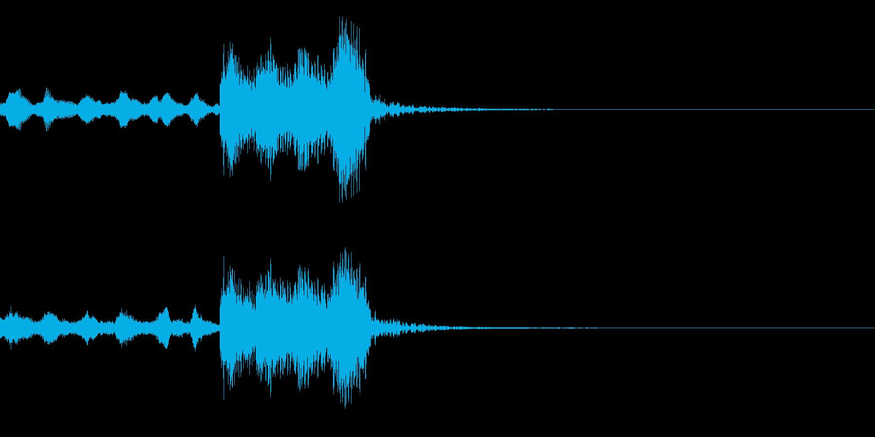 ステージクリア!/ゲーム用ジングルの再生済みの波形
