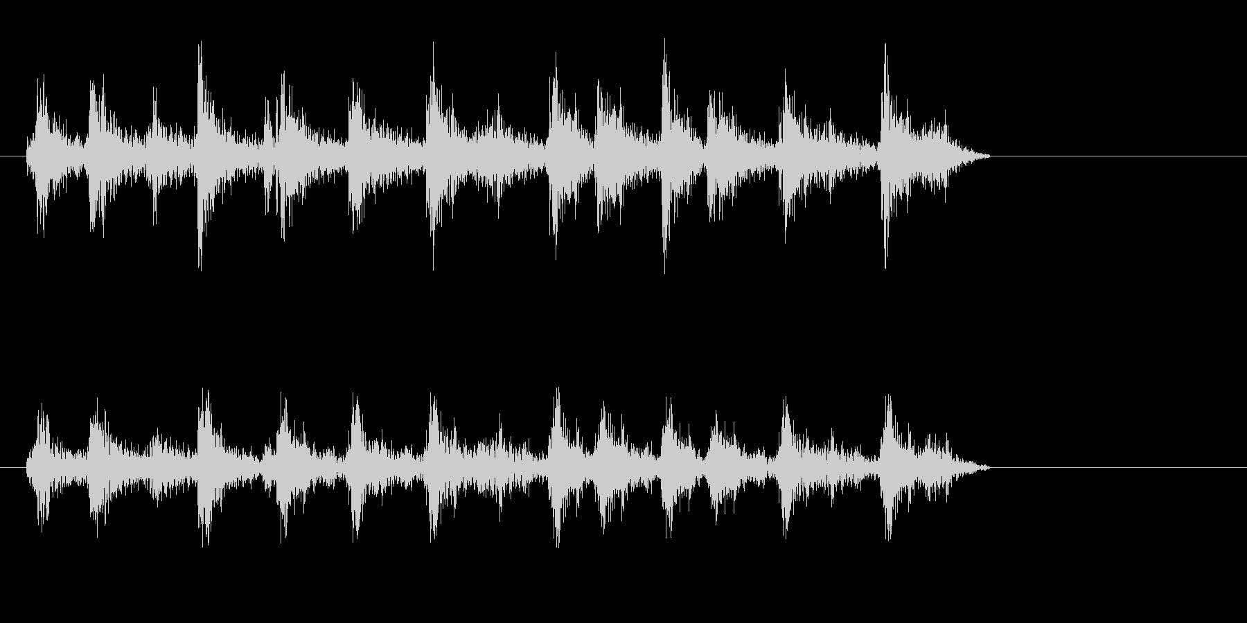 ジリリ(ゼンマイを巻くような音)の未再生の波形