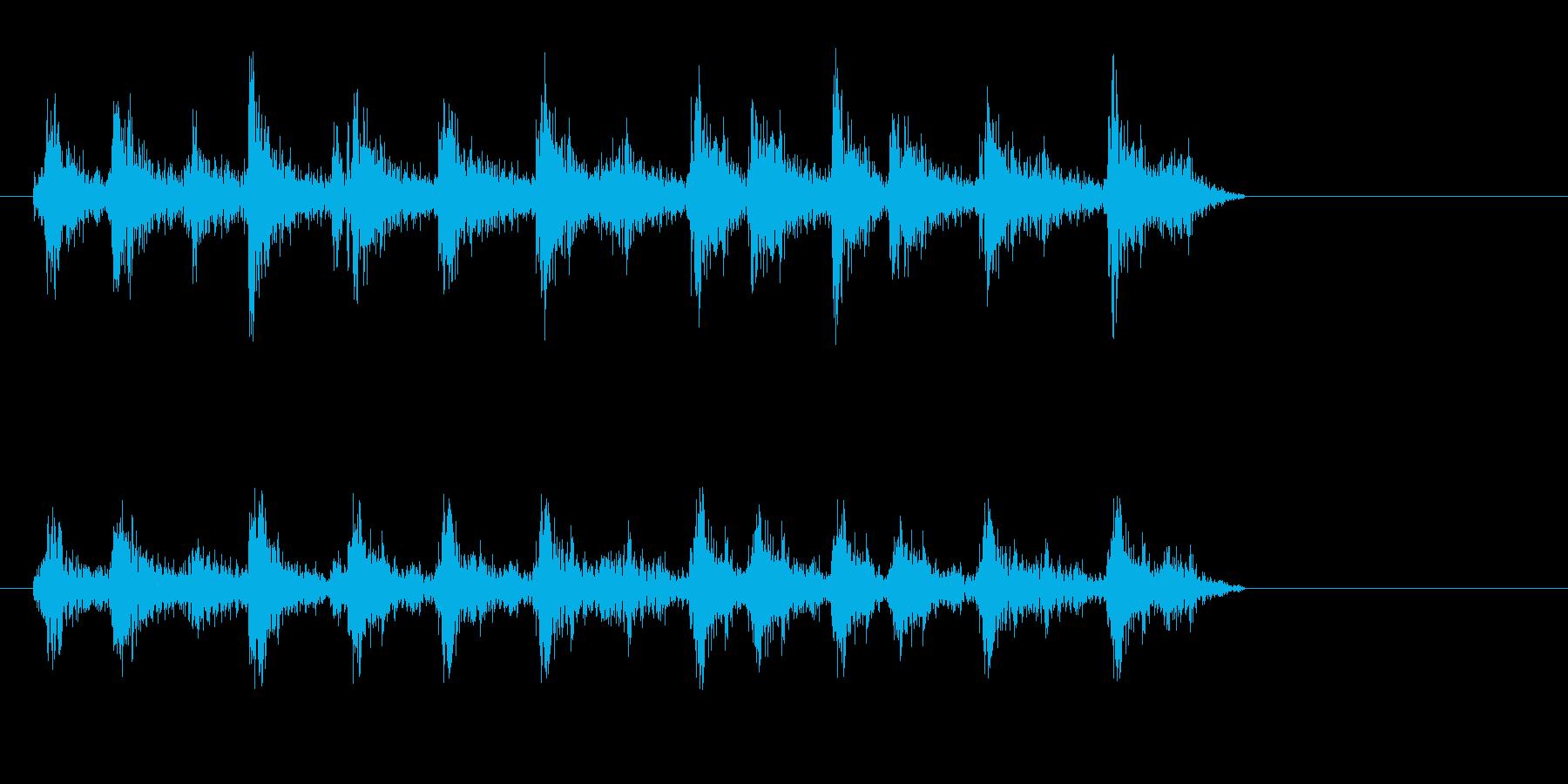 ジリリ(ゼンマイを巻くような音)の再生済みの波形