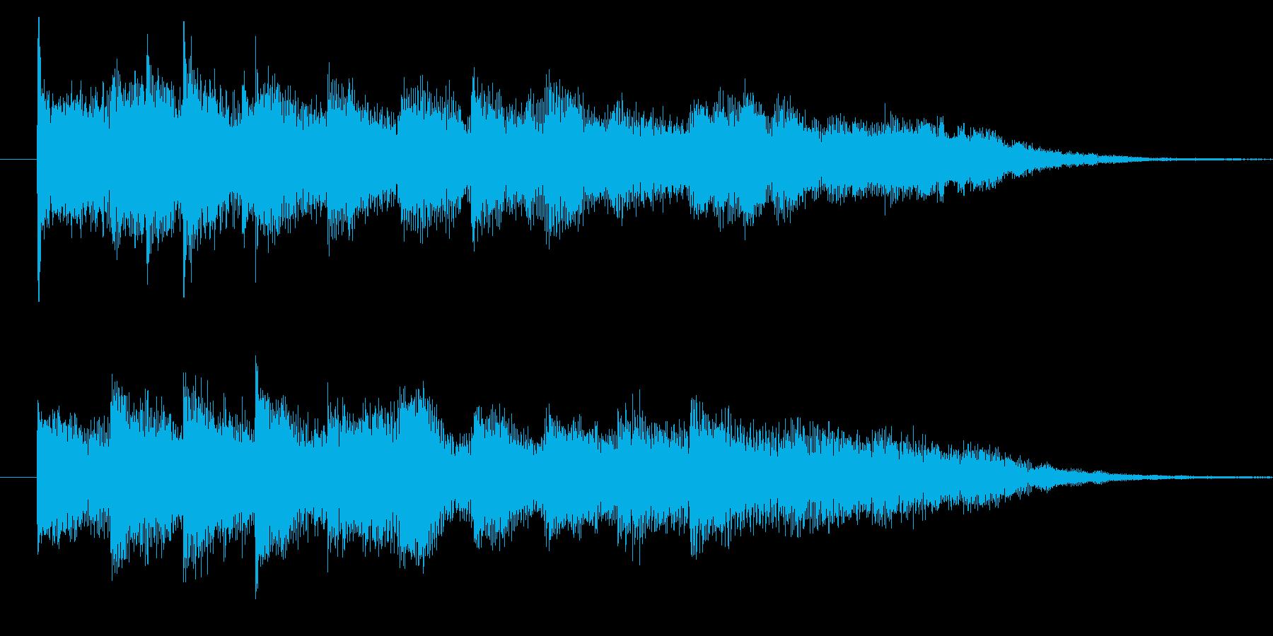 宿屋の曲の再生済みの波形