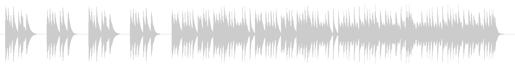 木琴だけのかわいいBGMの未再生の波形